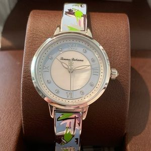 Tommy Bahama Womens Stainless Steel Floral Watch
